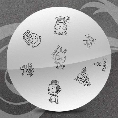 Konad Stamping Nail Art Image Plate - M30