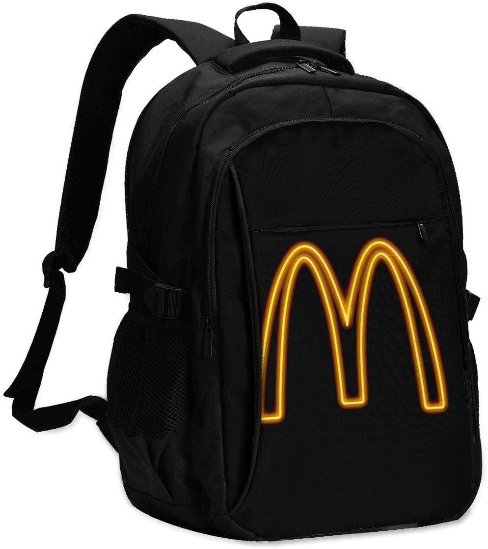 N/C McDonald's USB Casual Backpack Black