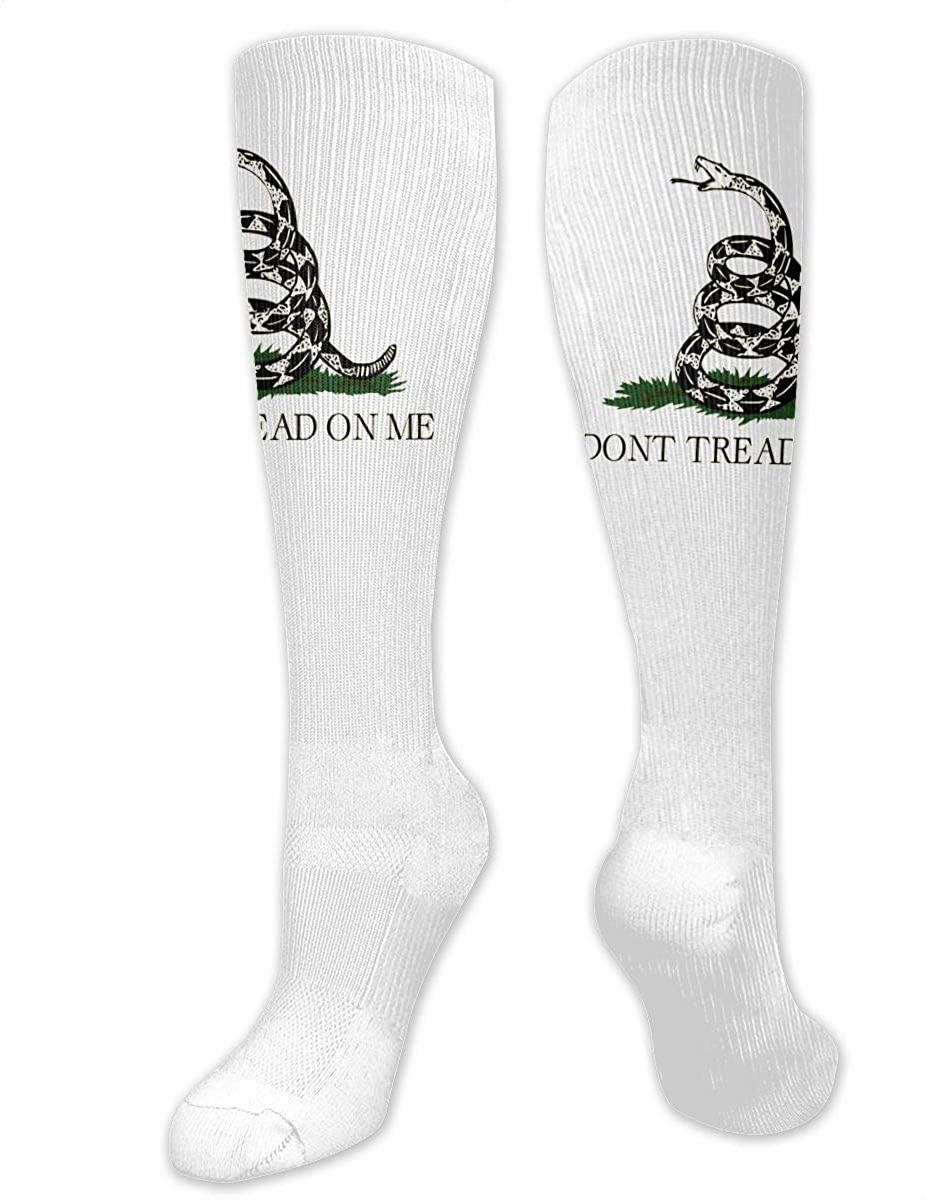 Don't Tread On Me Gadsden Flag Athletic Socks Thigh Stockings Over Knee Leg High Socks