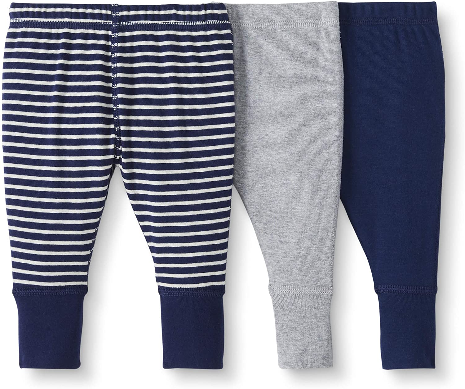 Moon and Back by Hanna Andersson Baby/Toddler 3-Pack Organic Cotton Jogger, Navy, Newborn