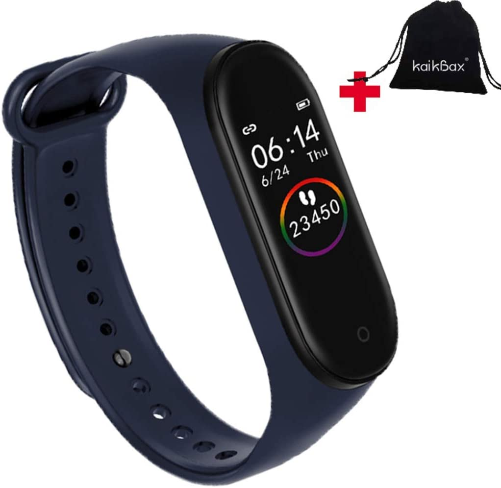 NiuChong Blue Touchpad Smart Watch - Heart Rate Monitor Waterproof Touchpad Activity Tracker Sleep Smartband -Sports Bracelet Health Fitness Smart Bracelet Love Products
