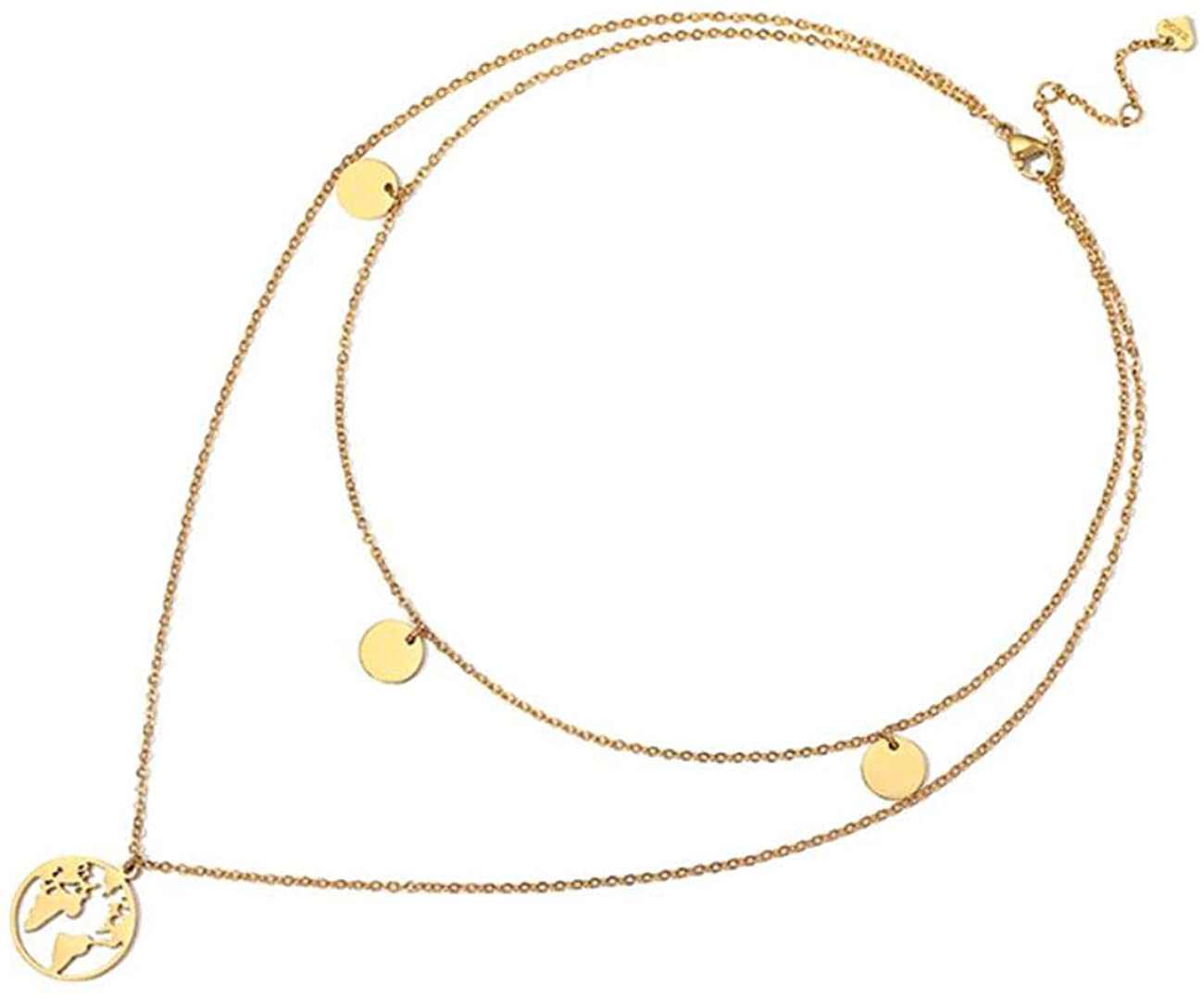 Allure Personalized Double Layer Necklace Pendant Clavicle Chain Simple and Fashionable Neck Chain