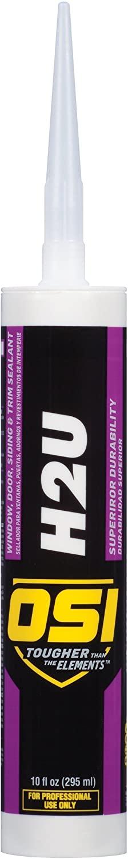 OSI H2U High Performance Window, Door, Siding and Trim Sealant, 10 Ounce Cartridge, Clear (1256965)