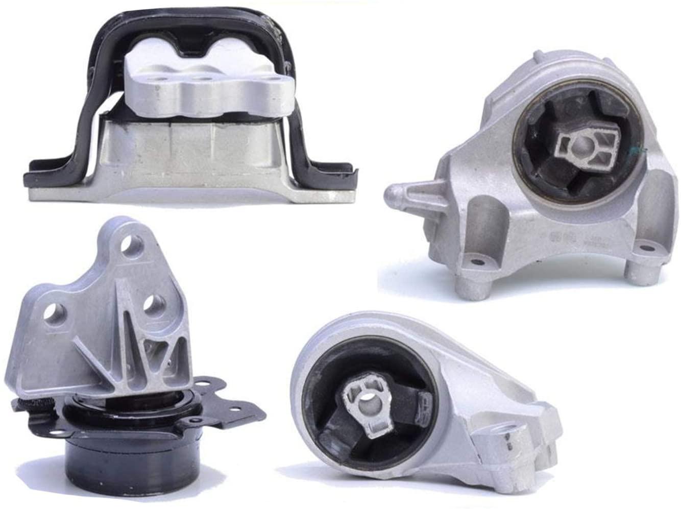 100% New Engine Motor Transmission Mounts 4 pcs For 10-17 Chevrolet Equinox GMC Terrain 2.4L 4 Cylinder
