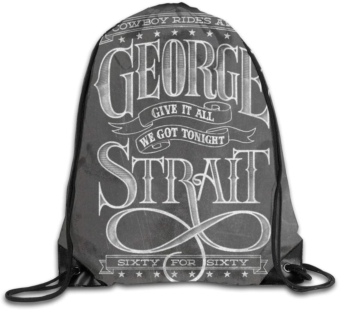 George Strait Unisex Drawstring Bags Training Travel Sack Daypack