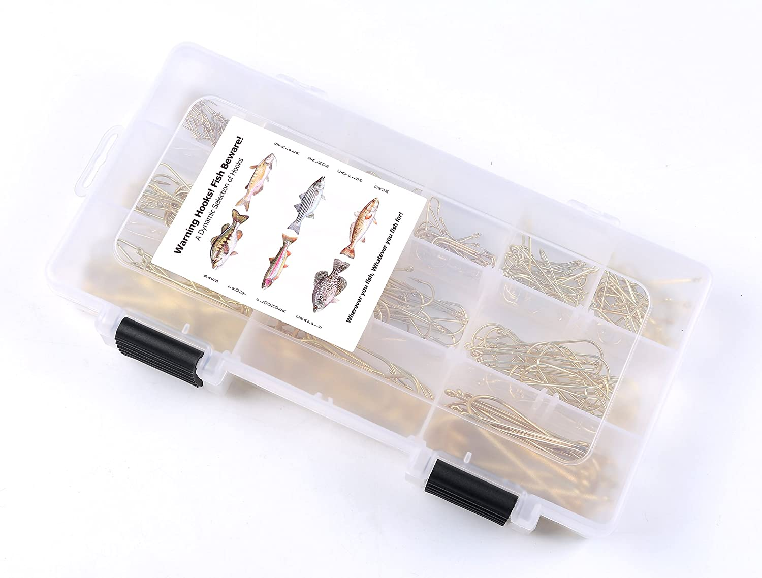 Thorn Fishing Aberdeen Hooks Assortment Kit 300-Pieces with Fishing Tackle Box