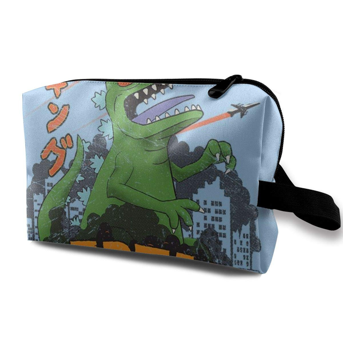 Makeup Bag Cosmetic Pouch Rugrats Reptar Godzilla Mix Multi-Functional Bag Travel Kit Storage Bag