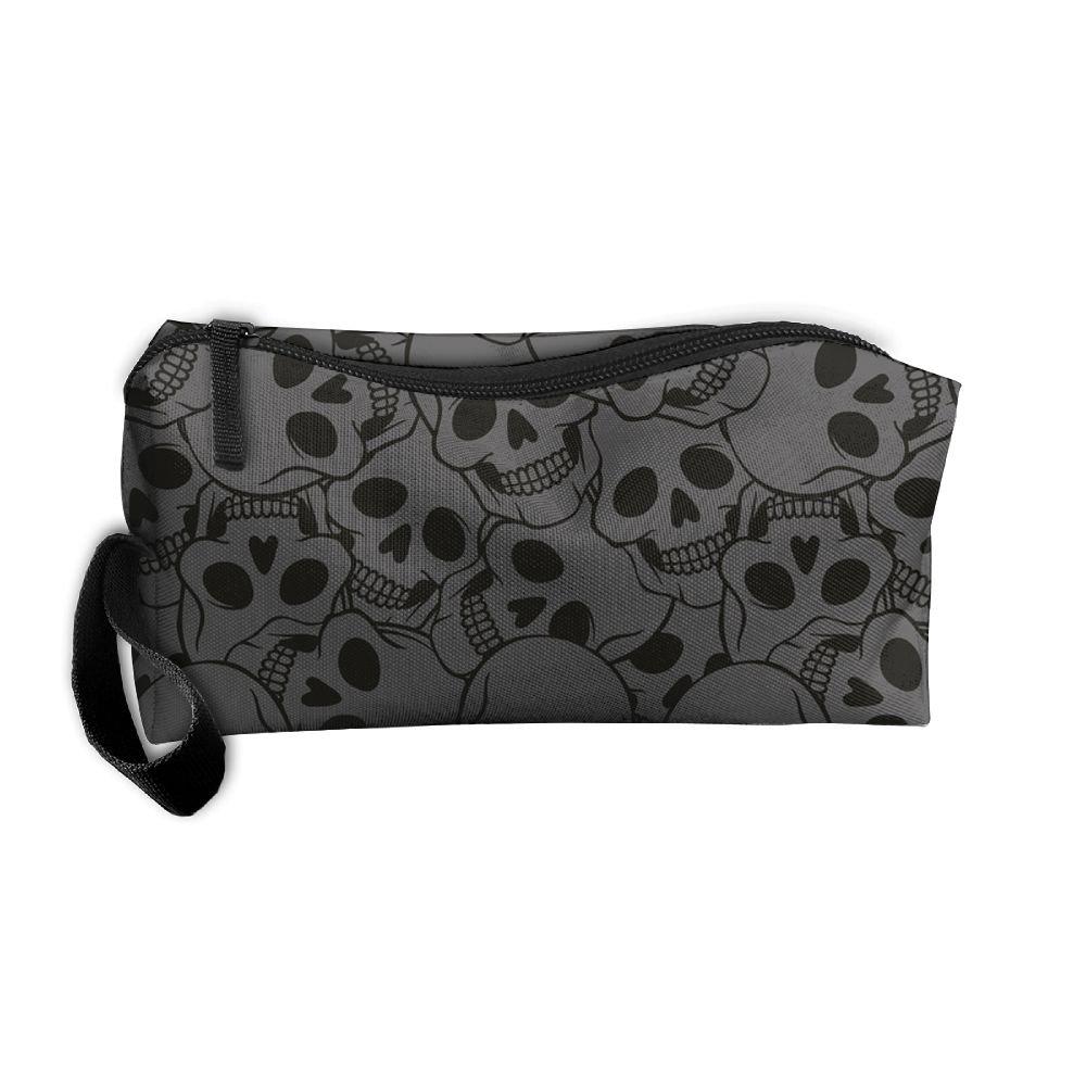 Kerera Skulls Pattern Multifunction Portable Pouch Medicine Bag Carrying Case