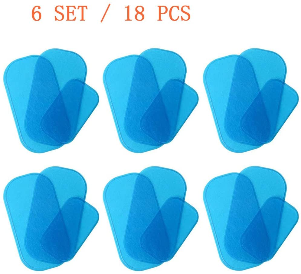 KICOFIT Gel Pads Replacement for EMS Hips Trainer and Butt Toner ABS Buttocks Trainer, Replacement Gel Sheet for Buttock Muscle Hip Trainer Massage