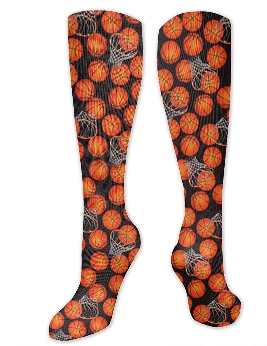 Cool Cartoon Basketball Athletic Socks Thigh Stockings Over Knee Leg High Socks