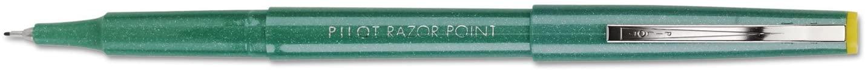 Pilot Razor Stick Porous Pen, Green Ink, Extra Fine, 0.50 mm; 12 Total Items