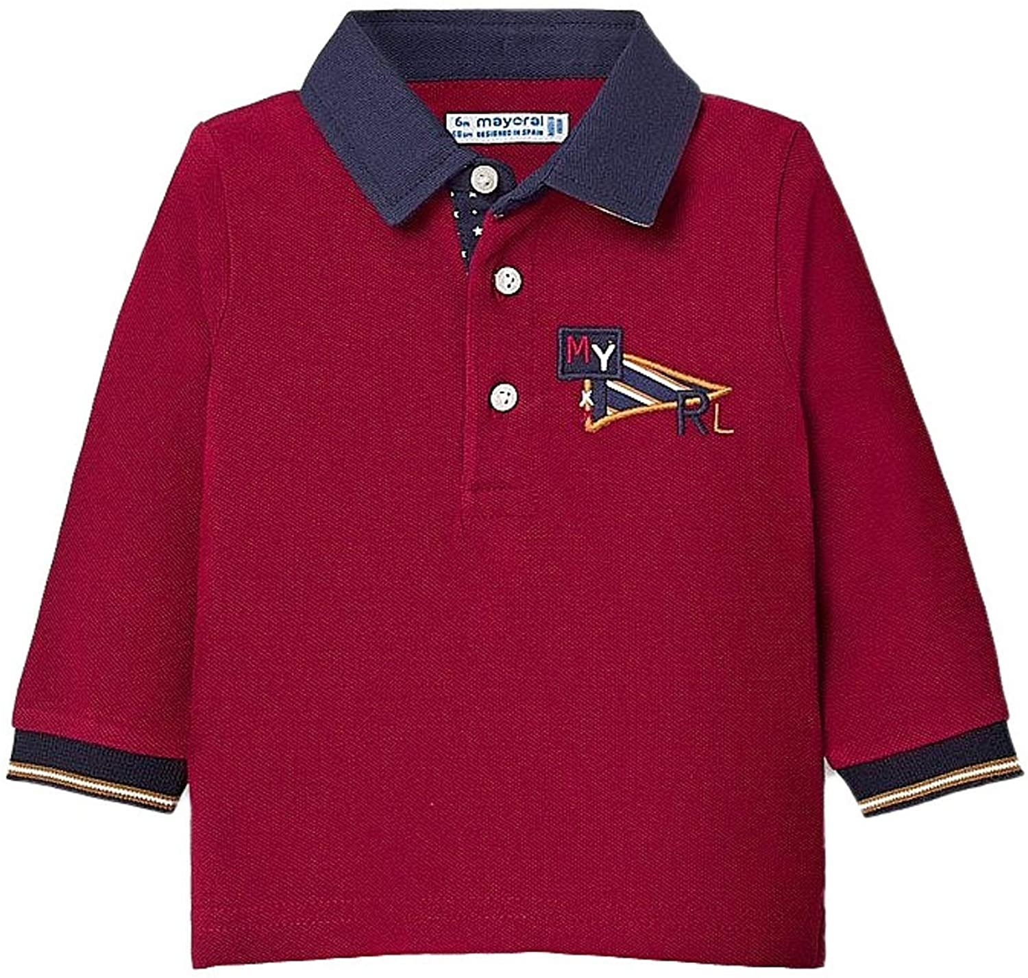 Mayoral - L/s Polo for Baby-Boys - 2126, Bordeaux