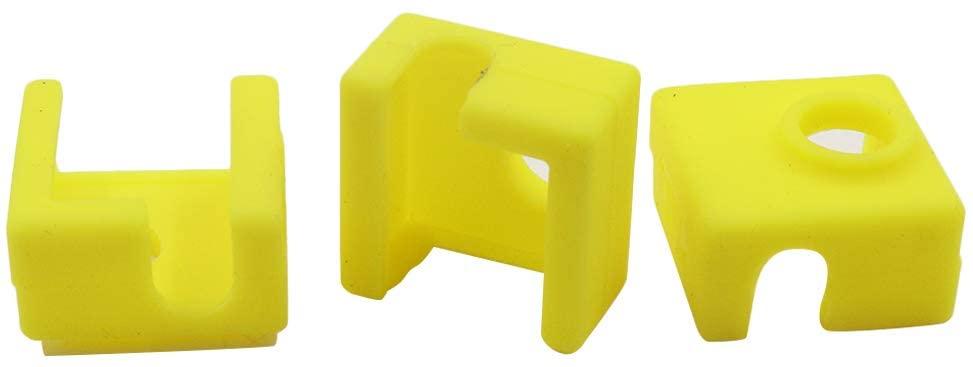 BTMB 3D Printer Heater Block Silicone Cover MK7/MK8/MK9 Yellow 3pcs