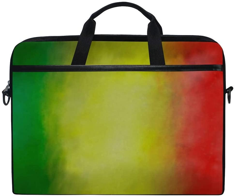 Laptop Bag Reggae Colored Background 15-15.4 Inch Laptop Case Sleeve, Briefcase Messenger Shoulder Bag for Men Women, College Students Business People Office Workers