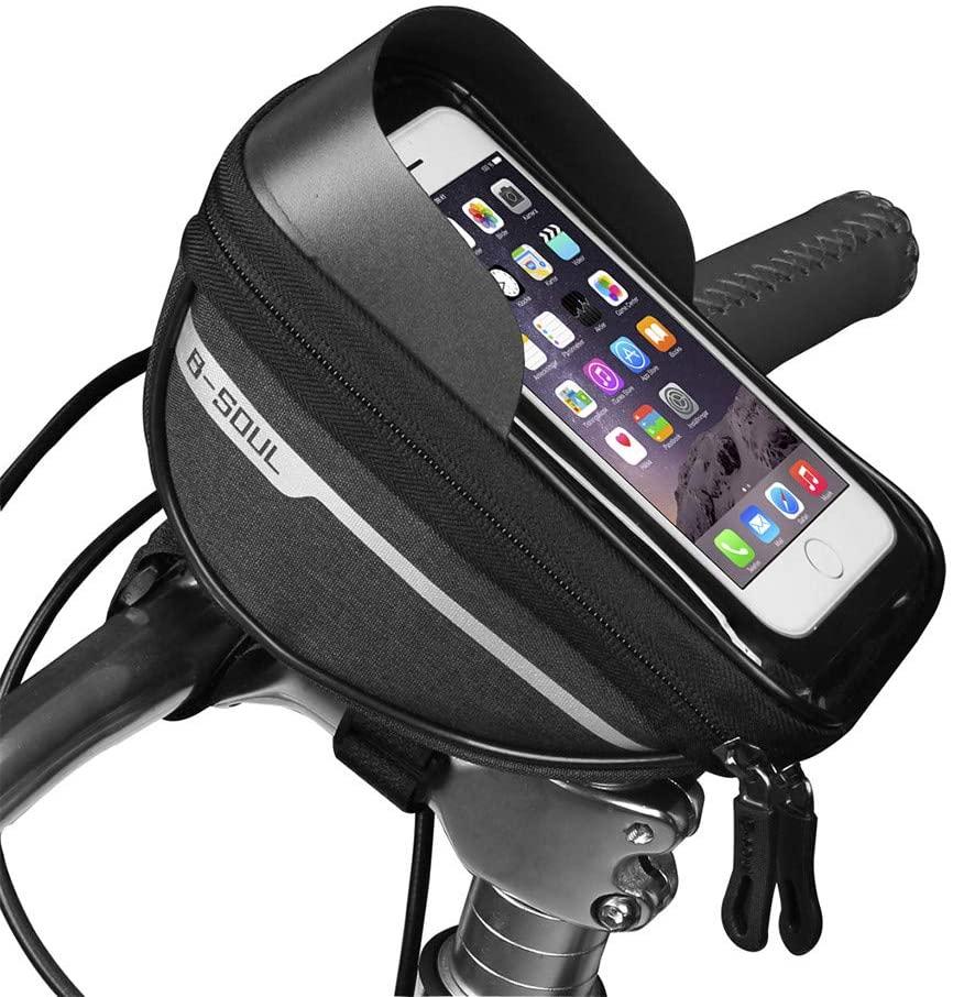 NXDWJ Ajustable Bicycle Bike Phone Holder, Motorcycle Riding Navigation Shockproof and Stable Support, Waterproof Handlebar Bag