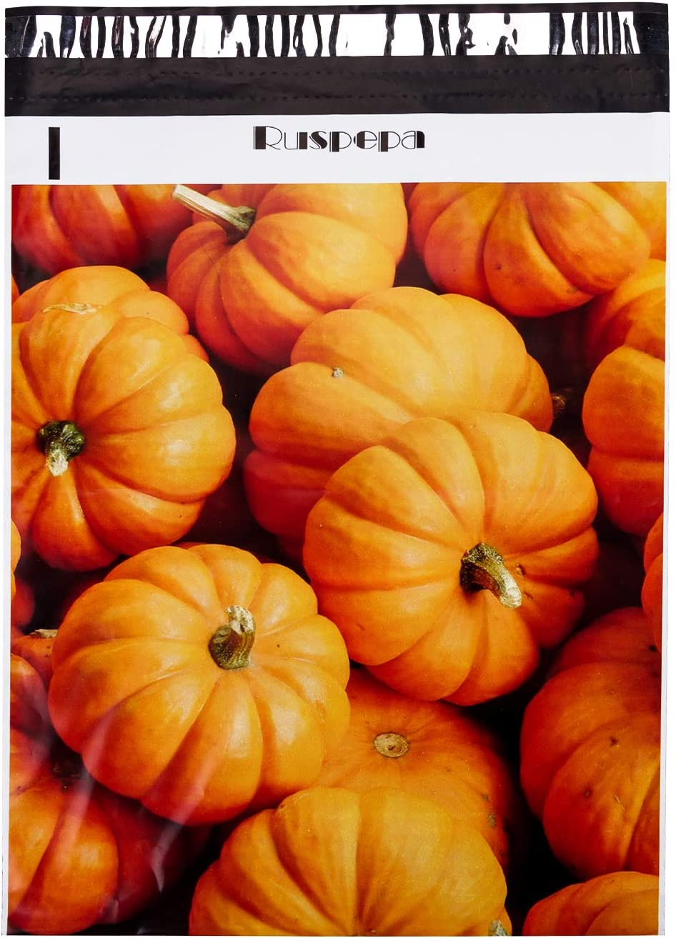 RUSPEPA Halloween Poly Mailers 12x15.5 Pumpkin Patterns 3 Mil Thick Mailing Envelopes Self Sealing Shipping Bags - 50 Pack