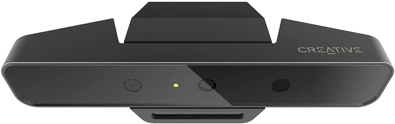 Creative Blasterx Senz3D Depth Sensing Webcam with High 60FPS Video Streaming Security Camera, Black (73VF081000000)