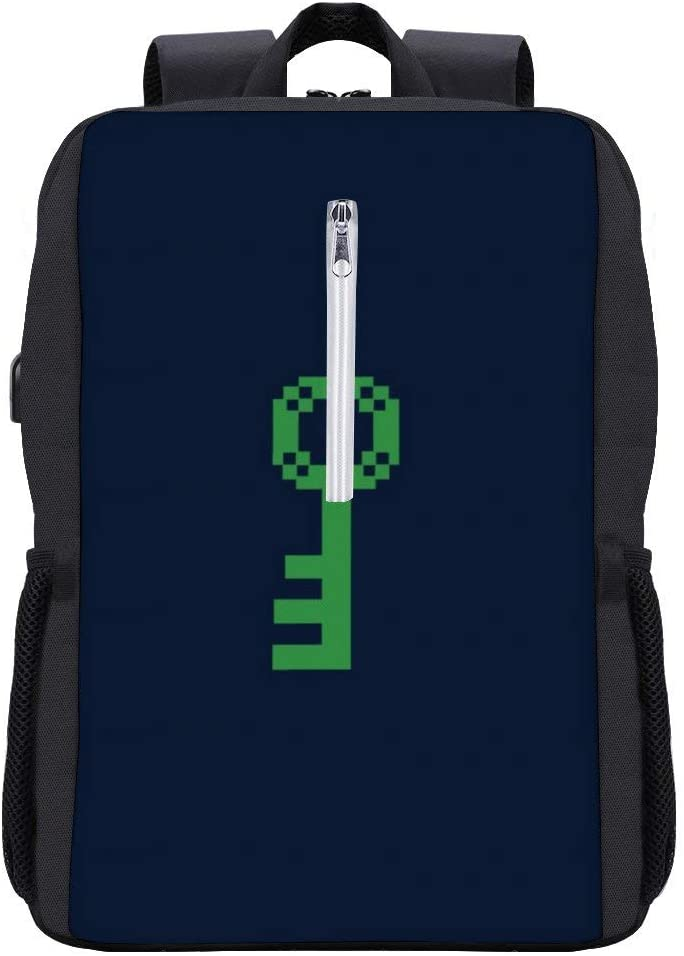 Three Keys Ready Player One Backpack Daypack Bookbag Laptop School Bag with USB Charging Port