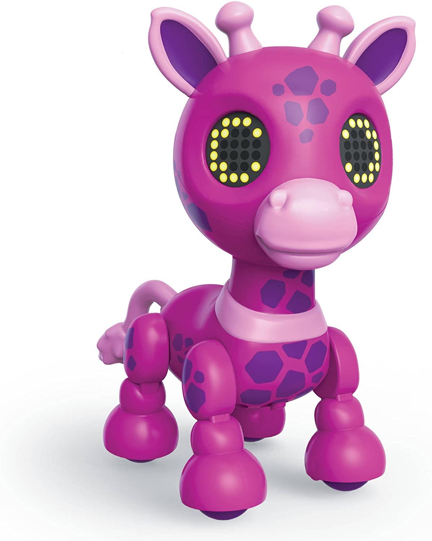 Zoomer Zuppies Safari, Gigi Interactive Pink Giraffe with Lights, Sounds and Sensors