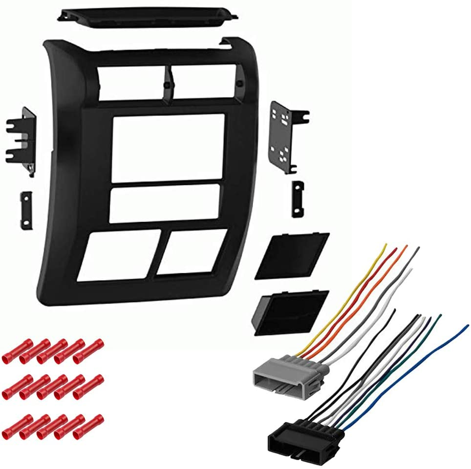 CACHÉ KIT2717 Bundle with Car Stereo Installation Kit for 1997 – 2002 Jeep Wrangler – in Dash Mounting Kit, Antenna for Double Din Radio Receivers (3 Item)