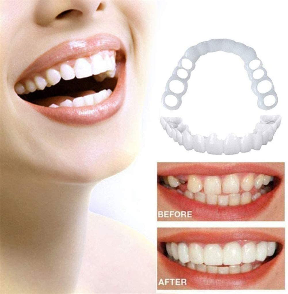 KUYT Snap On Smile - Instant Perfect Smile Clip On Veneers Top & Bottom - Perfect Braces and Whitening Alternative No Pain No Shots No Drilling - Perfect Smile in Minutes