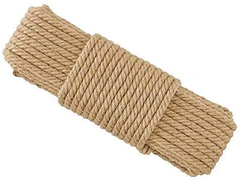 HHTC Garden Twine, Macrame twine, Braided Rope, Decorative Rope, Twine, DIY Cat Scratcher Rope Twisted Sisal Rope Replacement Cat Tree Scratching Toy Cat Climbing Frame Binding Rope Home Decoration
