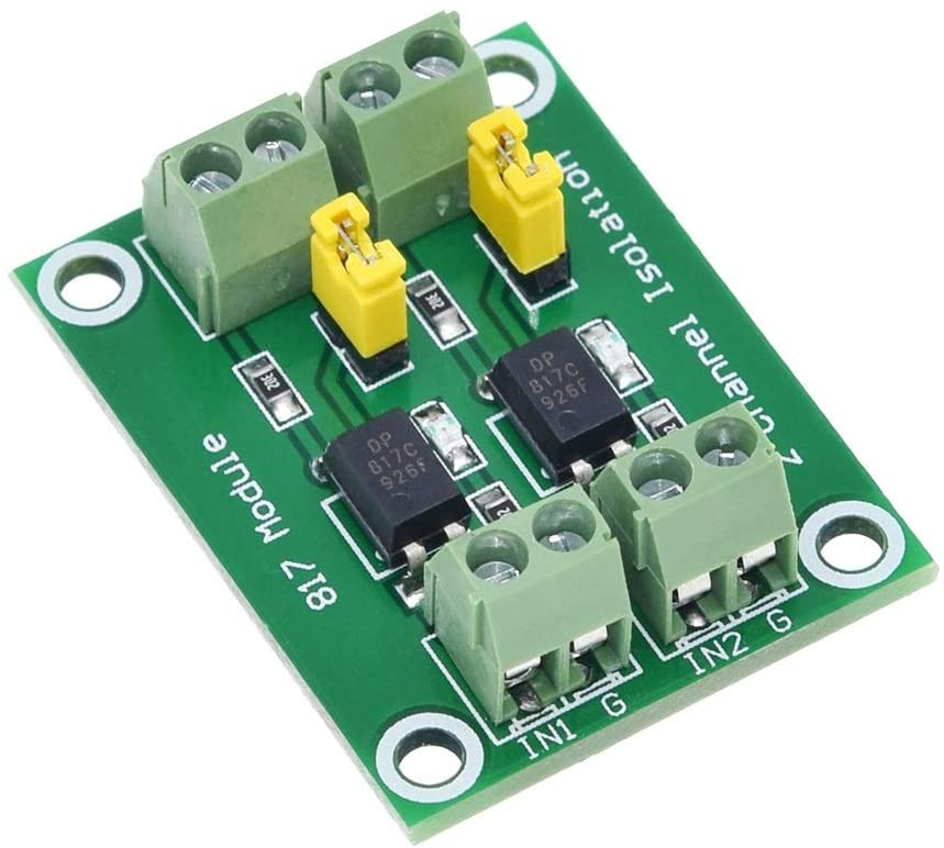 QinMei Zhou PC817 2 Channel Optocoupler Isolation Board Voltage Converter Adapter Module 3.6-30V Driver Photoelectric Isolated Module