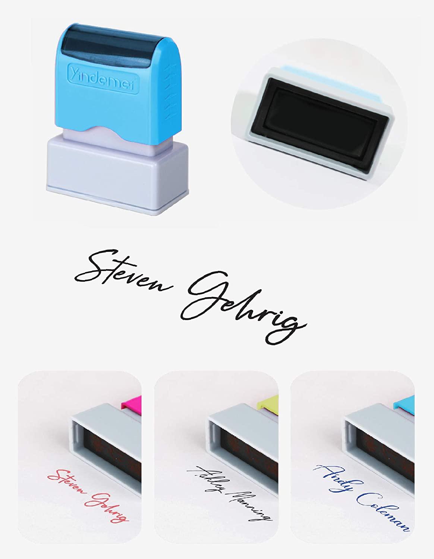 Custom Rubber Stamp Self-Ink for Tags Planner Personalized Name Business Logo Return Address Stamp Wedding Favors DIY, QR Code Stamp