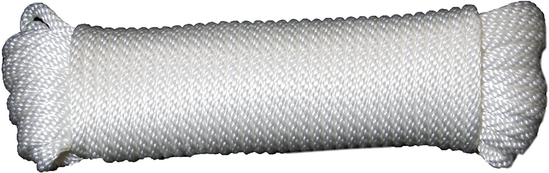 T.W Evans Cordage 44-128 3/8-Inch Solid Braid Nylon Rope 100-Feet Hank