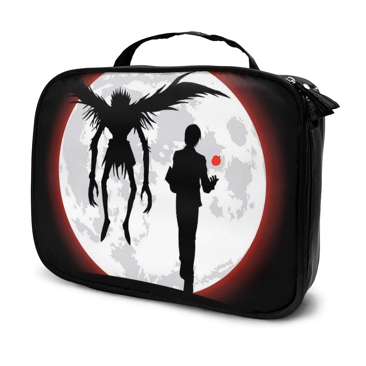 Multi-Functional Bag With Compartments Death Note I Will Reign Over A New World Professional Cosmetic Pouch Travel Kit Makeup Boxes Makeup Bag