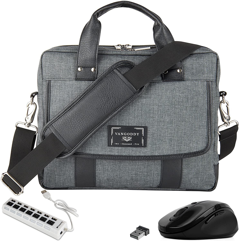 USB Hub, Mouse, Laptop Briefcase Shoulder Bag 11