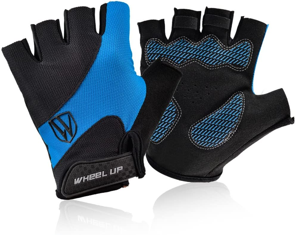 Fozela Cycling Gloves, No-Slip Fingerless Lightweight Pro Padded Bicycle Gloves for Road Bike, Mountain Biking, Racing, Unisex