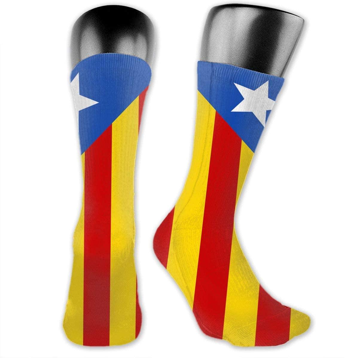 Catalonia Flag Unisex Outdoor Long Socks Sport Athletic Crew Socks Stockings