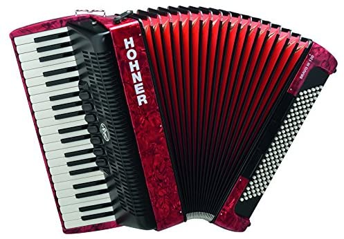 Hohner BR120R-N Bravo III 120 Bass Piano Accordion in Red
