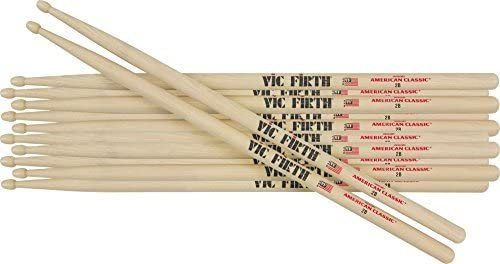 Vic Firth 6-Pair American Classic Hickory Drum Sticks Wood 7A