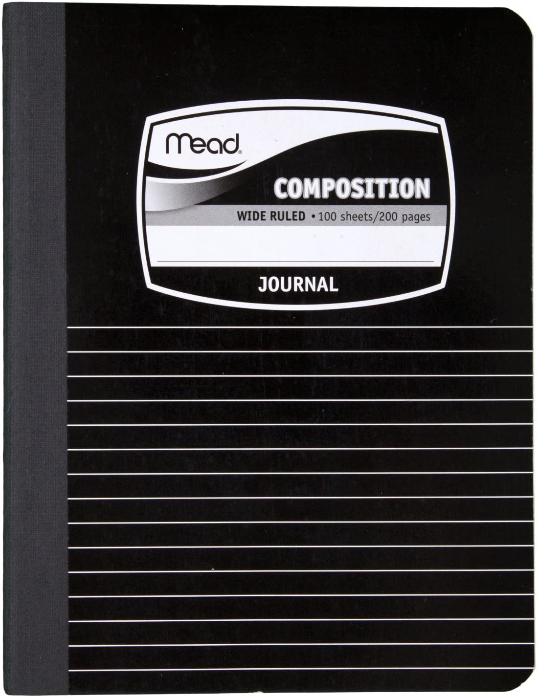 Mead Composition Book, Special Ruled, 9-3/4 x 7-1/2 Inches, Black Marble (9920) 2 pack