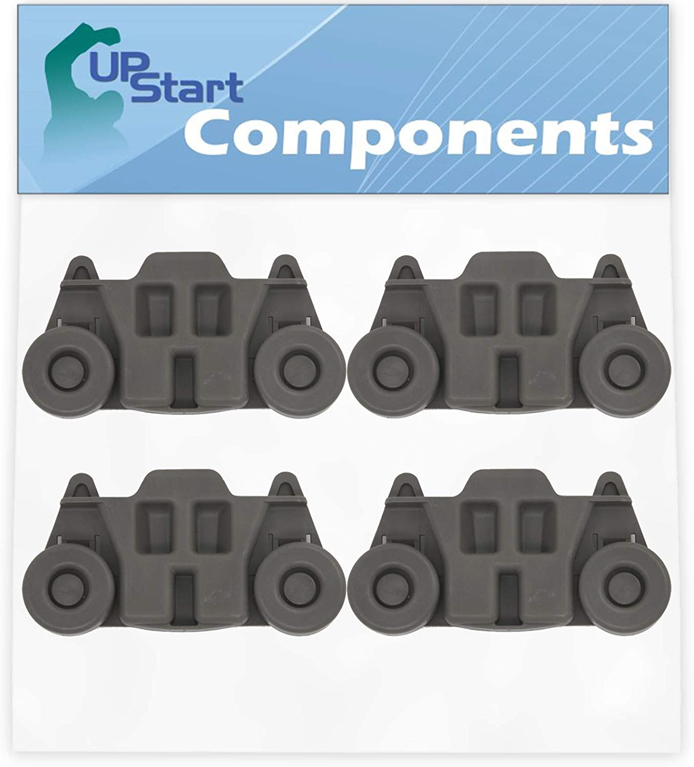 4-Pack W10195416 Lower Dishwasher Wheel Replacement for Maytag MDB8959SBS2 Dishwasher - Compatible with W10195416V Dishwasher Wheel - UpStart Components Brand