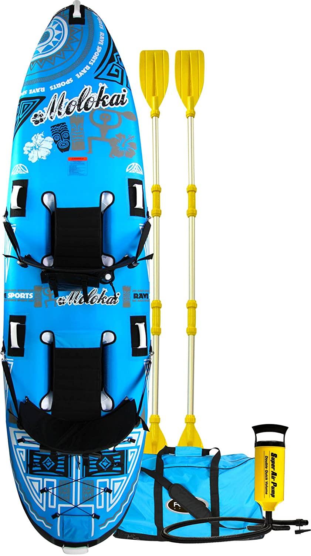 RAVE Sports Molokai 2-Person Kayak, Blue/White, 136 X 35 X 8-Inch