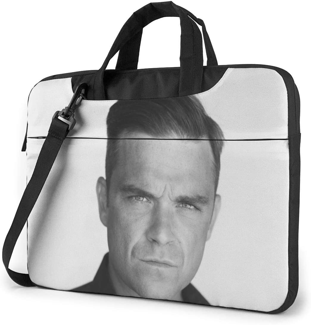 N/C Robbie Williams Waterproof Laptop Shoulder Messenger Bag, Computer Protective Case, Briefcase, Unisex, Exquisite Style.14 Inch
