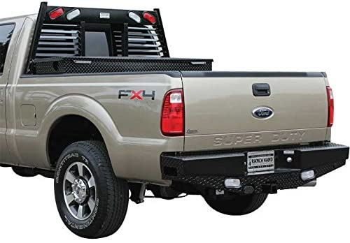 Ranch Hand SBF081BLSL Sport Series Rear Bumper with Sensors for Ford HD