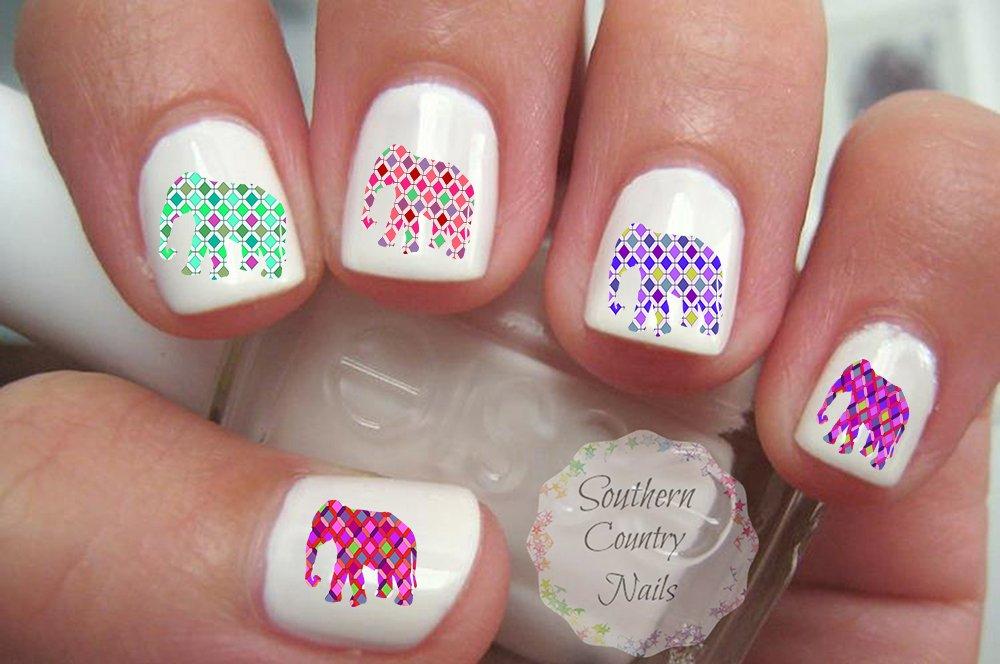 20 Elephant Nail Art Decals