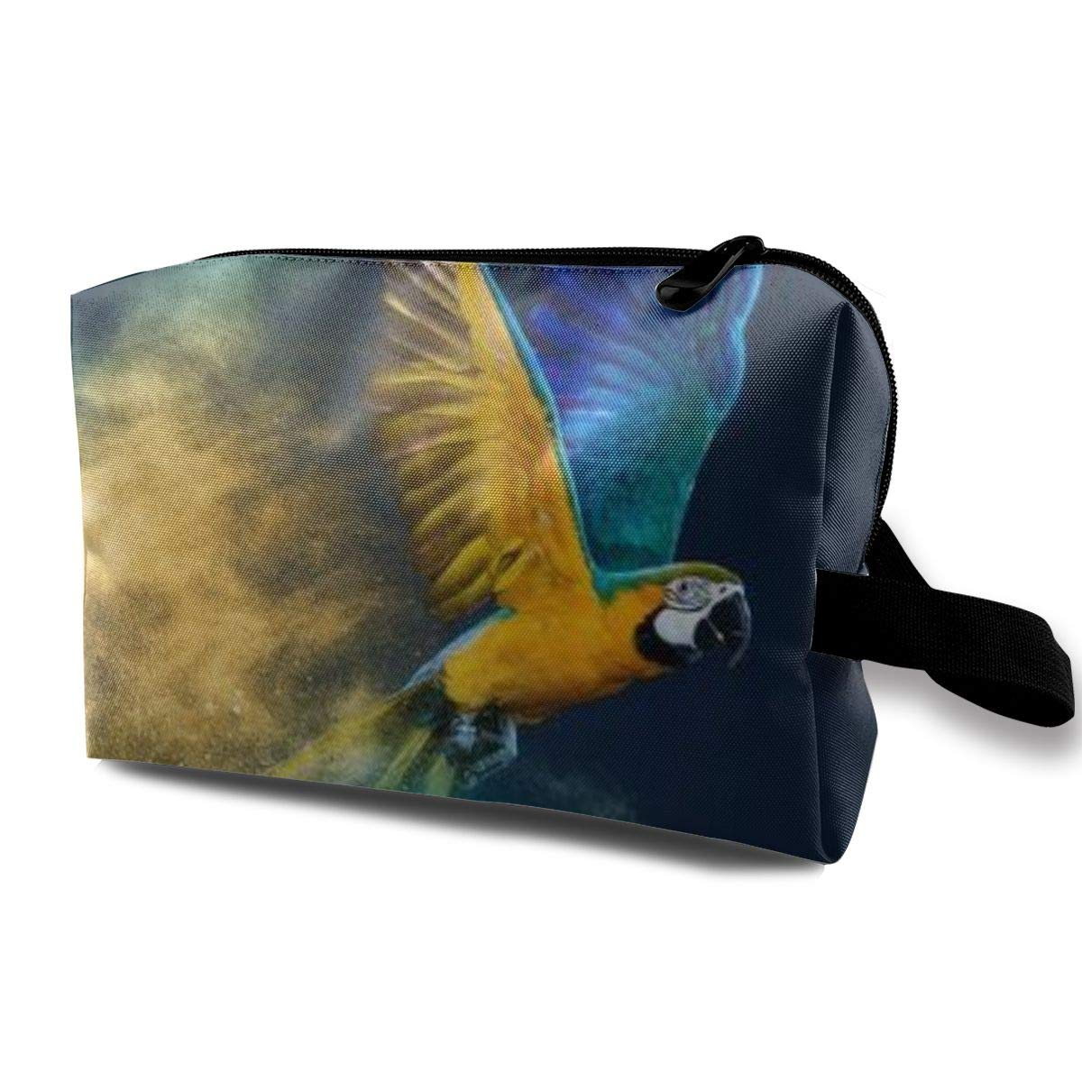 Makeup Bag Cosmetic Pouch Parrot Over Colourful Powder Explosion Multi-Functional Bag Travel Kit Storage Bag
