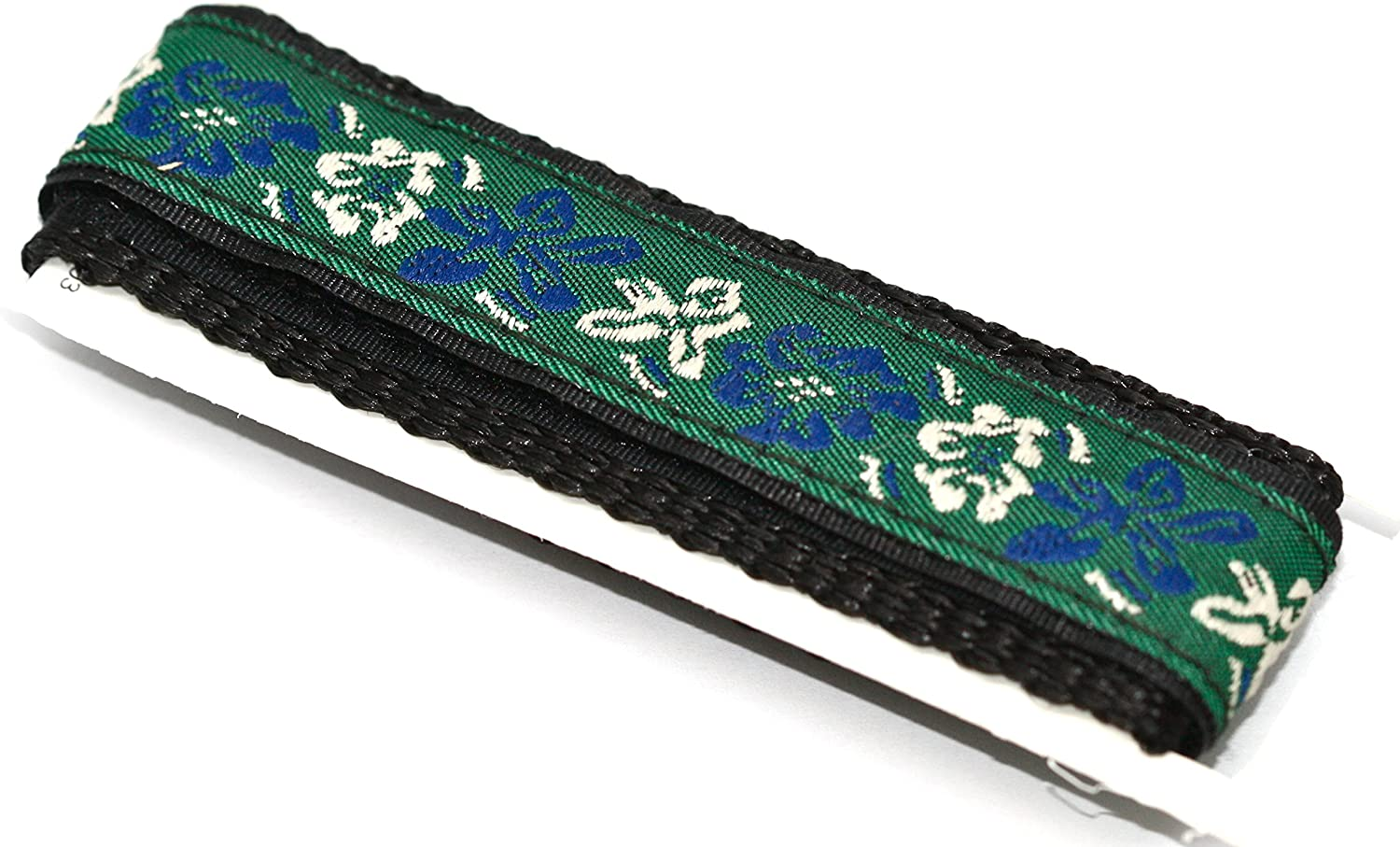 18-20mm Green Blue Hawaiian Flower Print Watch Band Fits Chums