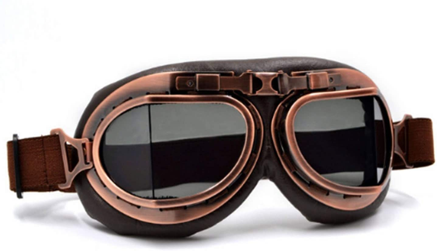 scooter WWII Vintage Harley Style Motorcycle gafas Motocross Moto Goggles Goggle Glasses Aviator Pilot Cruiser