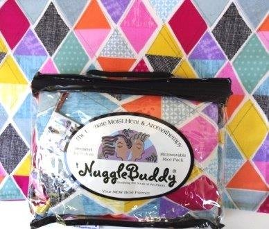 'NUGGLEBUDDY New! Microwavable Moist Heat & Aromatherapy Organic Rice Pack-Cold Pack. Timeless Treasure's Diamond Patchwork Fabric Infused with SWEET LAVENDER Aromatherapy! The Perfect Gift!