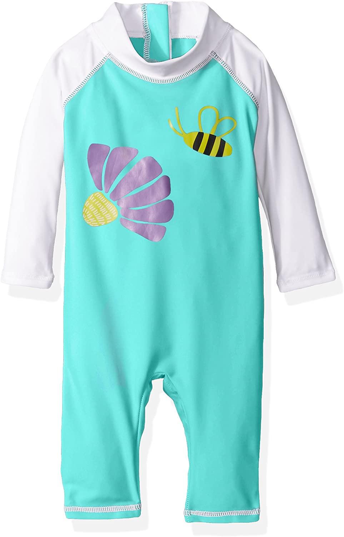 Flap Happy Girls' Baby UPF 50+ Graphic Rash Suit