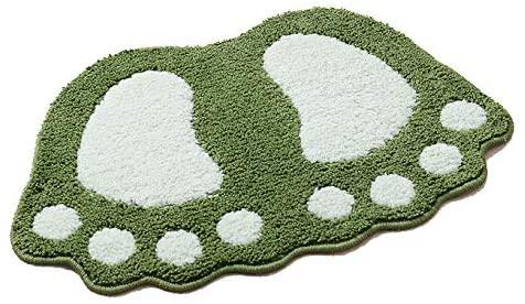 HUAHOO Big Feet Bath Toilet Mat Area Rugs Carpet Doormat Floor Mat Absorbent Mats Bathroom Rugs Bedroom Living Room Kitchen Foot Pad Rug (GradeA Non-Slip 19''x26'', Green)