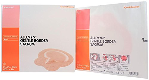 Smith and Nephew 66801031 Allevyn Gentle Border Sacrum Dressing 8 1/2