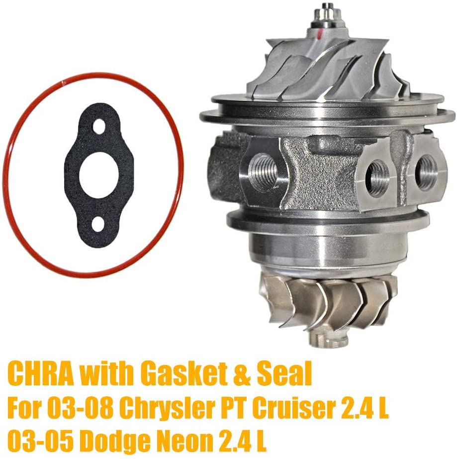 Turbo Cartridge Core For 03-08 Chry sler PT Cruiser 03-05 Dodge Neon 2.4 L, Part# 04884234AC 04884234AB CHRA with Gasket and Seal AKWH
