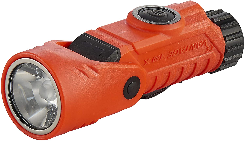 Streamlight 88901 Vantage 180 X with Lithium Batteries, Wrench, Helmet Bracket - Orange